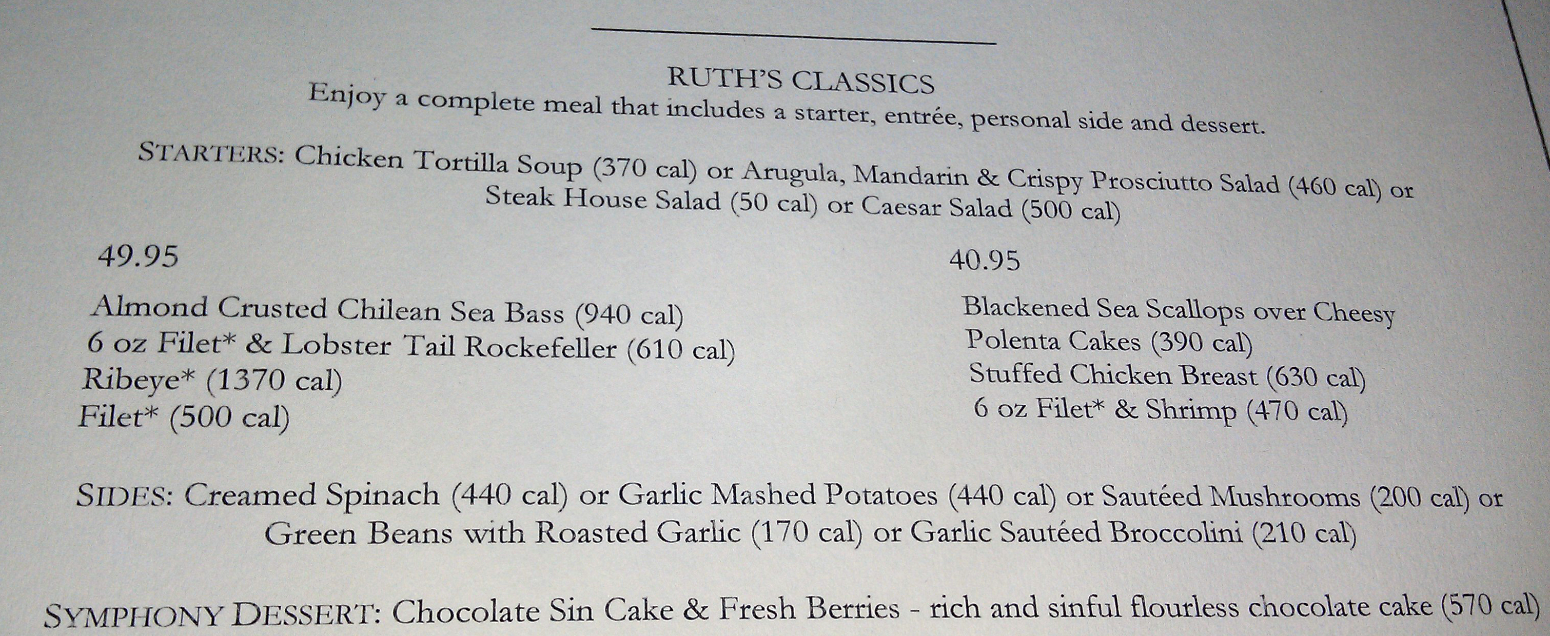 RUTH'S 3-COURSE Holiday MENU CREATED BY OUR CHEFS, TAILORED TO YOUR TASTE The holiday season gives us endless reasons to gather with family and friends for a special evening out.