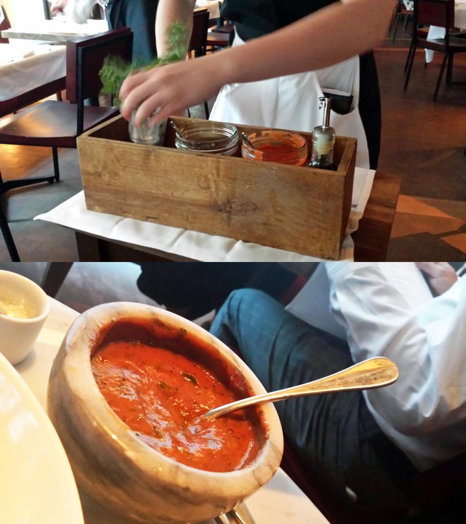sauce making