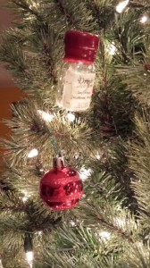 christmas tree decorations made from the empties