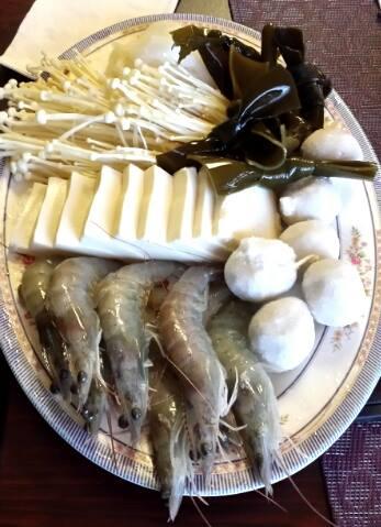seafood, tofu & veg