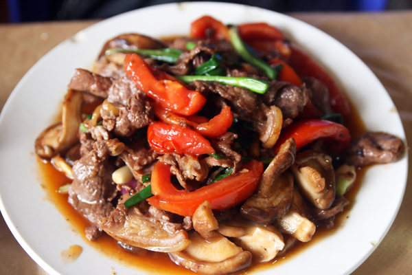 beef & peppers