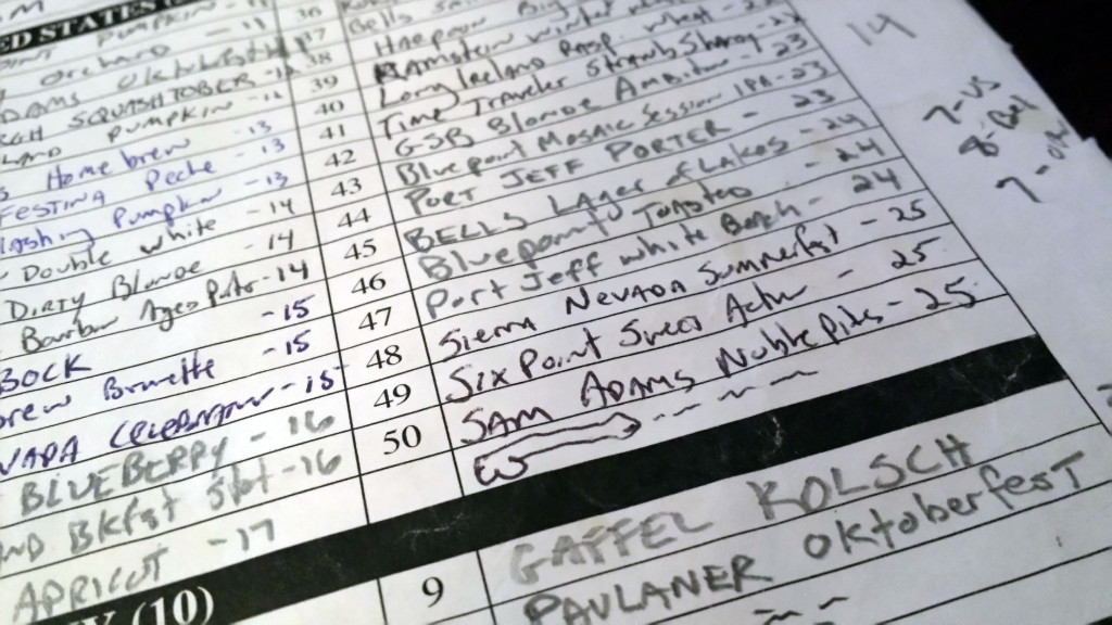 beer club list in progress