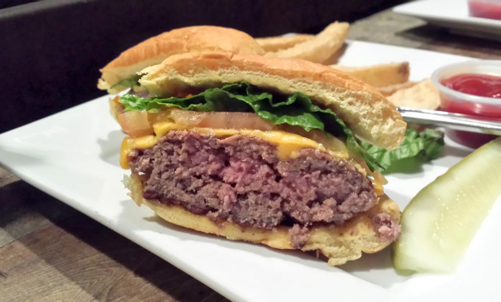 concrete burger half