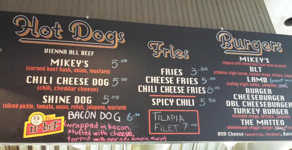 mikeys menu
