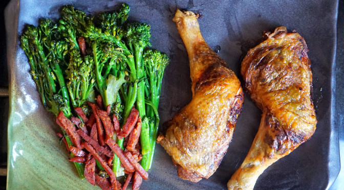 Chicken Legs and Broccolini