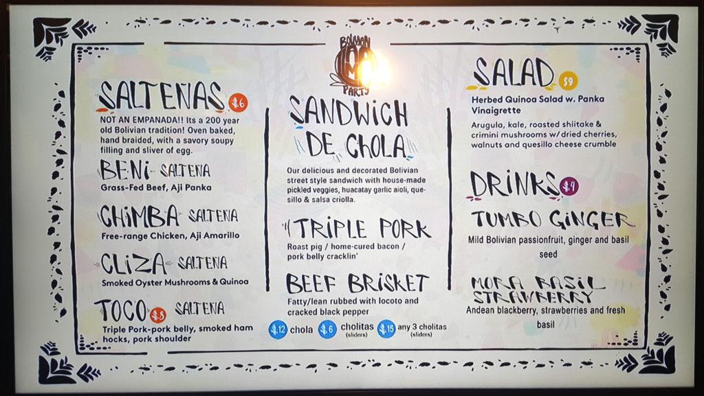 BLP menu