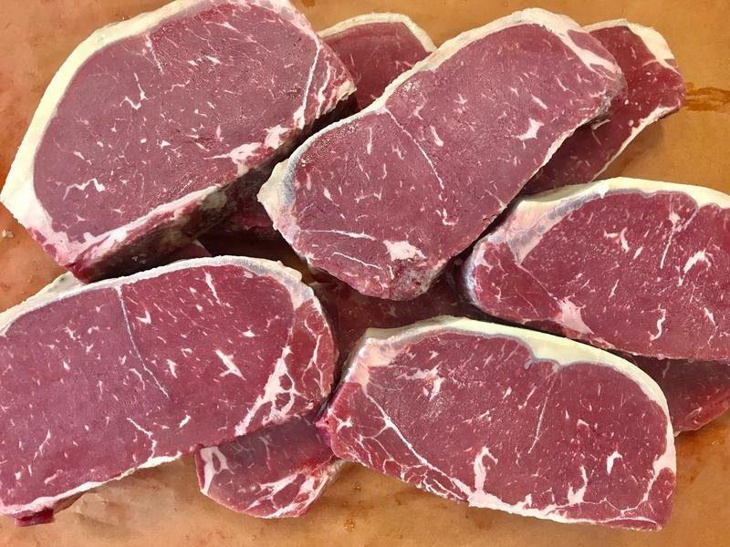 Butchering ny strip remarkable